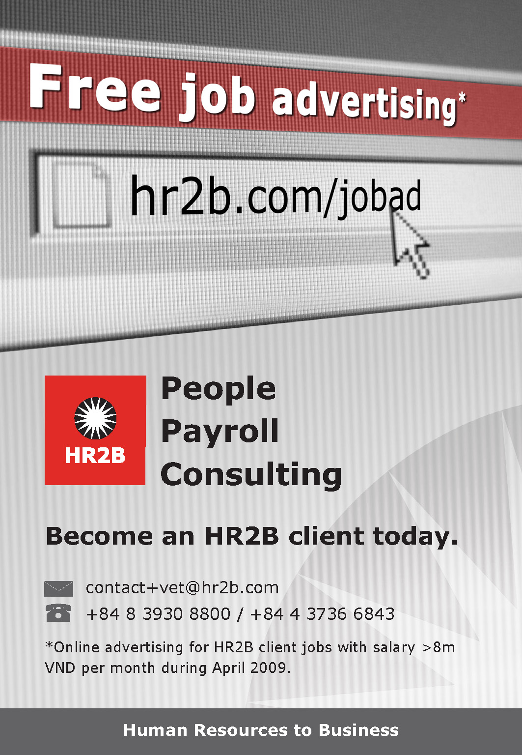 HR2B Free Job - Vietnam Economic Times